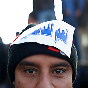 December 11, 2012 - Cairo, Egypt: Several thousand Muslim Brotherhood supporters and islamist protesters who support president Morsi, gathered outside a local mosque in Cairo's Nasr City...A draft constitution has sparked outrage in post-revolution Egypt. A decision by Egyptian President Mohamed Morsi to extend his power during constitutional debate brought concerns about the growing influence of the Muslim Brotherhood, the movement from which he hails...Sporadic clashes between supporters and opponents of president Mohamed Morsi, erupted in the past week over his assumption of extraordinary powers and the scheduling of a referendum for next Saturday. (Paulo Nunes dos Santos/Polaris)