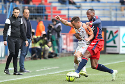 April 1, 2018 - Paris, France - Ruben Aguilar (MHSC) vs Herve Bazile  (Credit Image: © Panoramic via ZUMA Press)