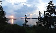 Sunset over Penobscot Bay, Vinalhaven, Maine.