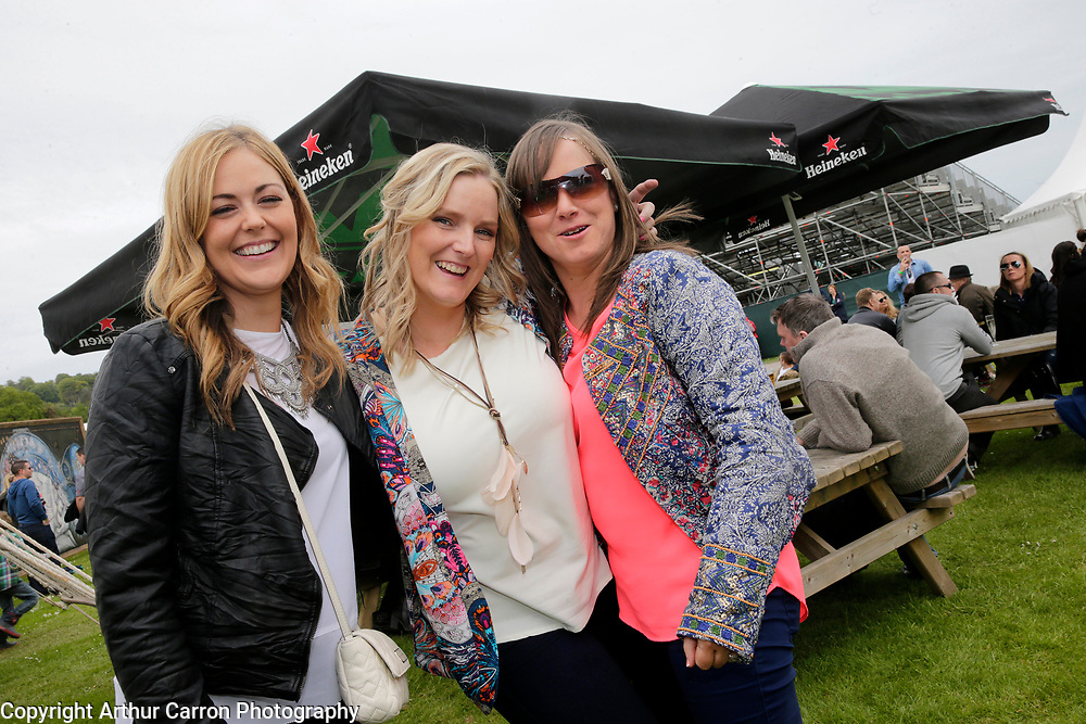 30/5/15 Deirdre Smyth, Sabrina McKenna and Helena Sheridan, Monaghan pictured at Slane Castle in Co Meath. Picture: Arthur Carron