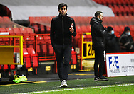 Rochdale's manager Brian Barry-Murphy during the EFL Sky Bet League 1 match between Charlton Athletic and Rochdale at The Valley, London, England on 12 January 2021.