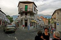 Street-life in Gjirokastra. Albania June 2009