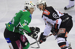 Egon Muric vs Ziga Jeglic at 39th Round of EBEL League ice hockey match between HDD Tilia Olimpija and HK Acroni Jesenice, on December 30, 2008, in Arena Tivoli, Ljubljana, Slovenia. Tilia Olimpija won 4:3. (Photo by Vid Ponikvar / SportIda).