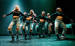 Dance group perform during Slovenian Tennis personality of the year 2017 annual awards presented by Slovene Tennis Association Tenis Slovenija, on November 29, 2017 in Siti Teater, Ljubljana, Slovenia. Photo by Vid Ponikvar / Sportida