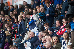 South stand after the second goal. Falkirk 2 v 0 Ayr, Scottish Championship game played 24/9/2016 at The Falkirk Stadium .