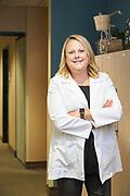 Dana Stevens poses for a portrait at Good Samaritan Hospital in San Jose, California, on August 24, 2020. (Stan Olszewski/SOSKIphoto)
