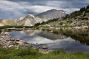 Storm clouds brewing over Mount Yale 14,196ft, Sawatch Range, Colorado.