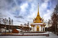 JÄMTLANDSBILDER <br /> Thailändska paviljongen i Utanede i vinterdvala. <br /> Foto: Per Danielsson