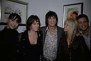 Tamara Roja, Tracey Emin, Ronnie Wood, Jo Wood and Ty Wood, Ronnie Wood: Josephine - private view , Scream, 34 Bruton Street, London, W1. 29 March 2007. Rolling Stones  guitarist celebrates 22 years of marriage with exhibition of 60 oil paintings and watercolours of his wife.  -DO NOT ARCHIVE-© Copyright Photograph by Dafydd Jones. 248 Clapham Rd. London SW9 0PZ. Tel 0207 820 0771. www.dafjones.com.