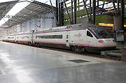Avant high speed train at platform inside María Zambrano railway station Malaga, Spain