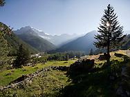 Valtellina, Pian del Lupo e vista sul Monte Disgrazia