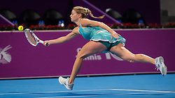 February 12, 2019 - Doha, QATAR - Camila Giorgi of Italy in action during the first round at the 2019 Qatar Total Open WTA Premier tennis tournament (Credit Image: © AFP7 via ZUMA Wire)