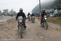 Chris Shelby and Round the World Doug Wothke on day-9 of our Himalayan Heroes adventure riding from Pokhara to Nuwakot, Nepal. Wednesday, November 14, 2018. Photography ©2018 Michael Lichter.
