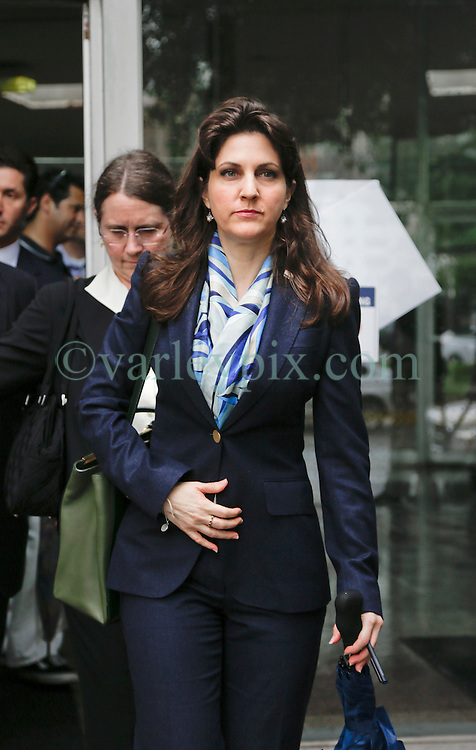 12 June  2015. New Orleans, Louisiana. <br /> Rita Benson LeBlanc, granddaughter of Tom Benson leaves Civil District Court on the last day of a hearing to determine the competency of her grandfather Tom Benson. Benson is the billionaire owner of the NFL New Orleans Saints, the NBA New Orleans Pelicans, various auto dealerships, banks, property assets and a slew of business interests. Rita, her brother and mother demanded a competency hearing after Benson changed his succession plans and decided to leave the bulk of his estate to third wife Gayle, sparking a controversial fight over control of the Benson business empire.<br /> Photo©; Charlie Varley/varleypix.com