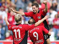 Fotball<br /> Bundesliga Tyskland<br /> Foto: Witters/Digitalsport<br /> NORWAY ONLY<br /> <br /> 12.08.2006<br /> <br /> Jubel 2:0 v.l. Stefan Kiessling, Torschuetze Gonzalo Castro, Sergej Barbarez<br /> <br /> Fussball Bundesliga Bayer 04 Leverkusen - Alemannia Aachen 3:0