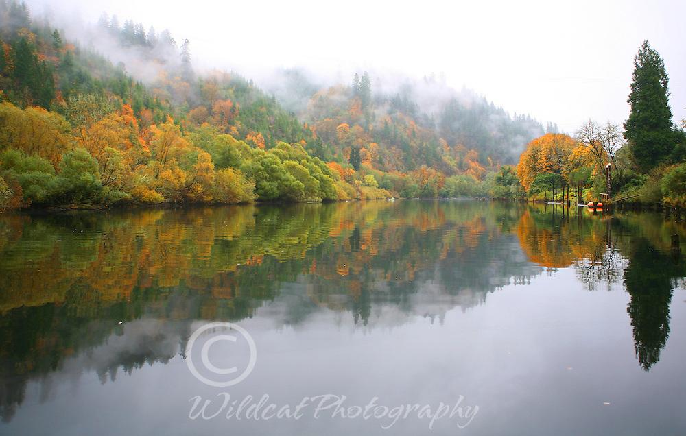 Siuslaw River, Mapleton, Oregon, in November