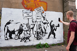 Edinburgh, Scotland, UK. 2 June 2020. New Covid-19 lockdown themed mural by The Rebel Bear artist appears on a wall in Edinburgh. Iain Masterton/Alamy Live News
