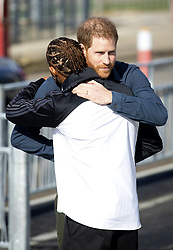 The Duke of Sussex (right) and Lewis Hamilton attending the opening of The Silverstone Experience at Silverstone, Towcester. Picture credit should read: Doug Peters/EMPICS