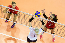 Eva Mori of Slovenia during volleyball match between National teams of Slovenia and Belgium in 4th Qualification Round of 2019 CEV Volleyball Women's European Championship, on August 25, 2018 in Sports hall Tabor, Maribor, Slovenia. Photo by Urban Urbanc / Sportida