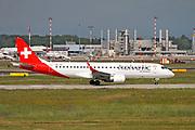 HB-JVV Helvetic Airways Embraer ERJ-190LR (ERJ-190-100 LR) at Malpensa (MXP / LIMC), Milan, Italy