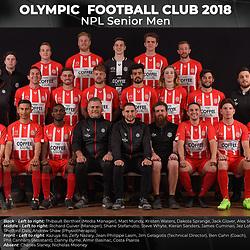 Olympic FC Team Photos 2018