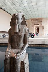 Egyptian Temple of Dendur at Metropolitan Museum of Art in Manhattan , New York City, USA