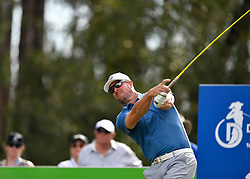 January 19, 2019 - Lake Buena Vista, FL, U.S. - LAKE BUENA VISTA, FL - JANUARY 19: Mark Mulder tees off on hole 2 during the third round of the Diamond Resorts Tournament of Champions on January 19, 2019, at Tranquilo Golf Course at Fours Seasons Orlando in Lake Buena Vista, FL. (Photo by Roy K. Miller/Icon Sportswire) (Credit Image: © Roy K. Miller/Icon SMI via ZUMA Press)