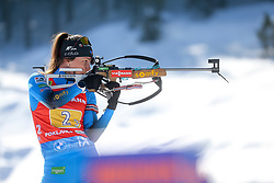 Chevalier Chloe of France competes during the IBU World Championships Biathlon 4x6km Relay Women competition on February 20, 2021 in Pokljuka, Slovenia. Photo by Vid Ponikvar / Sportida