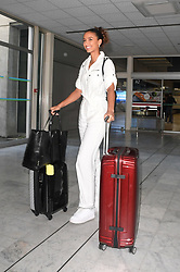 Miss France Flora Coquerel arriving at Nice Airport ahead of Cannes Film Festival in Nice, France on May 15, 2019. Photo by Julien Reynaud/APS-Medias/ABACAPRESS.COM