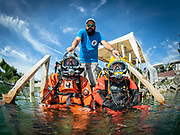 Kirby Morgan 37 Kirby Morgan Superlite 17 commercial divers at Dutch Springs, Scuba Diving Resort in Bethlehem, Pennsylvania