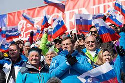 Prime minister, Miro Cerar during flower ceremony after Men's Slalom race of FIS Alpine Ski World Cup 57th Vitranc Cup 2018, on March 4, 2018 in Kranjska Gora, Slovenia. Photo by Urban Urbanc / Sportida