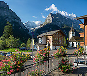 Hotel Gletschergarten, Grindelwald, Switzerland, the Alps, Europe. This image was stitched from multiple overlapping photos.
