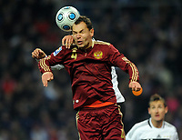 Fotball<br /> Russland v Tyskland<br /> Foto: Witters/Digitalsport<br /> NORWAY ONLY<br /> <br /> 10.10.2009<br /> <br /> Sergey Ignashevich Russland<br /> WM-Qualifikation Russland - Deutschland 0:1