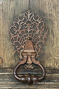 France, Paris, Door knocker in Place des Vosges