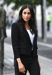 The Duchess of Sussex views the Famine Memorial during a visit to Dublin, Ireland. Photo credit should read: Doug Peters/EMPICS