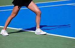 PORTOROZ, SLOVENIA - SEPTEMBER 14: Shadow of an athlete during the 1st Round of WTA 250 Zavarovalnica Sava Portoroz at SRC Marina, on September 14, 2021 in Portoroz / Portorose, Slovenia. Photo by Vid Ponikvar / Sportida