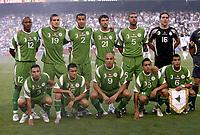 Fotball<br /> Algerie<br /> Foto: imago/Digitalsport<br /> NORWAY ONLY<br /> <br /> 05.06.2007  <br /> <br /> Lagbilde Algerie<br /> Mannschaftsbild Algerien, hi.v.li.: Abderaouf Zarabi, Ismael Bouzid, Madjid Bougherra, Anthar Yahia, Mehdi Meniri, Torwart Samir Hadjaoui; vorn: Nadir Belhadj, Karim Ziani, Noureddine Daham, Chadlj Amri und Yazid Mansouri