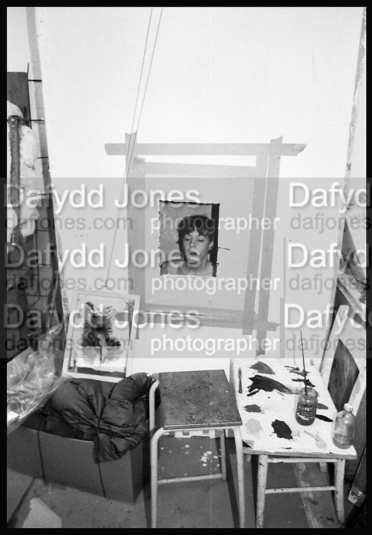 Anita Newsham. Winchester School of Art. 1977approx. SUPPLIED FOR ONE-TIME USE ONLY> DO NOT ARCHIVE. © Copyright Photograph by Dafydd Jones 248 Clapham Rd.  London SW90PZ Tel 020 7820 0771 www.dafjones.com
