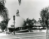 1939 The Brown Derby Restaurant on Vine St. in Hollywood