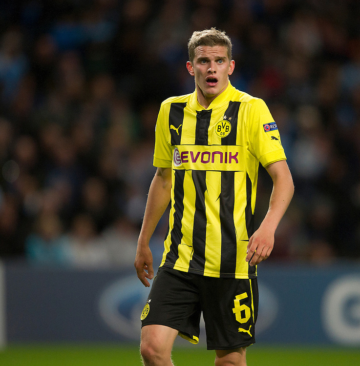 Borussia Dortmund's Sven Bender ..Football - UEFA Champions League Group D - Manchester City v Borussia Dortmund - Wednesday 3rd October 2012 -  Etihad Stadium - Manchester..
