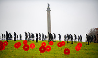 Standing with Giants 2020 at blenheim palace<br /> 200  life-size  Armistice  Day  soldier  silhouette  figures  and  75  poppy  wreaths currently on display are works of  Witney-based  artist  Dan  Barton. Made  from  recycled  building  materials, the art installation is in memory of The Unknown Soldier for The Royal British Legion, paying respects to our fallen heroes this Remembrance Day.<br /> <br /> The Royal British Legion deliver vital care and services every day in support of serving members of the Armed Forces, veterans and their families. They help to ensure the highest quality of care for those suffering physical and mental health issues and help families that need time to reconnect.