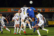 AFC Wimbledon defender Terell Thomas (6) battles for possession with Burton Albion defender John Brayford (2) during the EFL Sky Bet League 1 match between AFC Wimbledon and Burton Albion at the Cherry Red Records Stadium, Kingston, England on 28 January 2020.