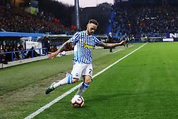 """Foto LaPresse/Filippo Rubin<br /> 16/03/2019 Ferrara (Italia)<br /> Sport Calcio<br /> Spal - Roma - Campionato di calcio Serie A 2018/2019 - Stadio """"Paolo Mazza""""<br /> Nella foto: MANUEL LAZZARI (SPAL)<br /> <br /> Photo LaPresse/Filippo Rubin<br /> March 16, 2019 Ferrara (Italy)<br /> Sport Soccer<br /> Spal vs Roma - Italian Football Championship League A 2018/2019 - """"Paolo Mazza"""" Stadium <br /> In the pic: MANUEL LAZZARI (SPAL)"""