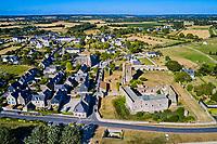 France, Manche (50), Regnéville-sur-Mer, havre de Regnéville (vue aérienne) // France, Normandy, Manche department, Regnéville-sur-Mer, Regnéville haven
