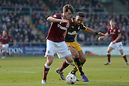 Northampton Town Striker John Marquis  during the Sky Bet League 2 match between Northampton Town and Cambridge United at Sixfields Stadium, Northampton, England on 12 March 2016. Photo by Dennis Goodwin.