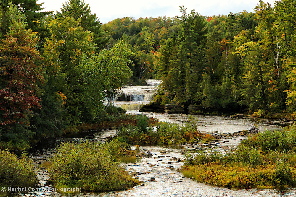 """Follow the Falls""<br /> <br /> Lower Tahquamenon Falls in the rain!!<br /> <br /> Waterfalls by Rachel Cohen"