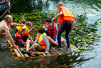 Raft building at the Also Festival 2021 at Cpmton Verney,photo by Mark Anton Smith<br /> .