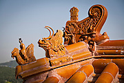 Detail on a roof in Beijing