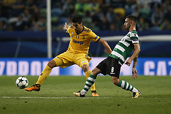 October 31, 2017 - Lisbon, Portugal - Juventus's midfielder Sami Khedira (L) vies for the ball with Sporting's midfielder Bruno Fernandes (R)  during Champions League 2017/18 match between Sporting CP vs Juventus FC, in Lisbon, on October 31, 2017. (Credit Image: © Carlos Palma/NurPhoto via ZUMA Press)