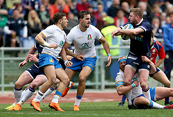 Scotland's Finn Russell in action during the NatWest 6 Nations match at the Stadio Olimpico, Rome.